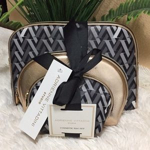 Adrienne Vittadini Cosmetic Bag Set